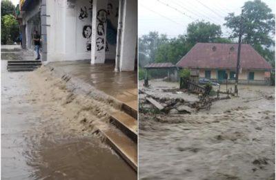 FOTO & VIDEO Apele au năvălit pe străzi şi în casele oamenilor, în urma ploilor abundente din ultimele 24 de ore