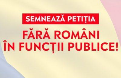 """""""Fără români în funcţii publice!"""". Petiţie lansată de un cunoscut ONG. Unde vrea FRFP să mute Capitala ţării"""