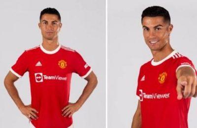 Primele imagini cu Cristiano Ronaldo în tricoul echipei Manchester United