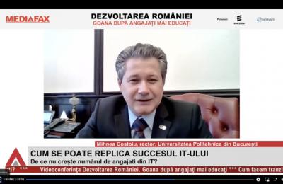 """Videoconferinţă Mediafax """"Dezvoltarea României"""": Vom avea un deficit de 600 – 700 de mii de ingineri în 10 ani. România nu are destui profesori de informatică"""